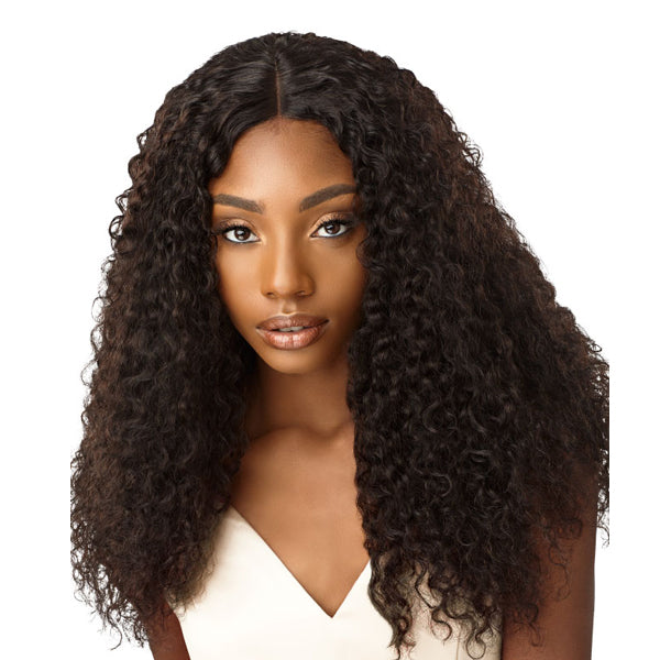 Outre Laid & Slayed Unprocessed Hair Wet & Wavy Lace Part Closure - JERRY CURL