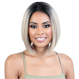 Motown Tress Human Hair Premium Mix Deep Part Lace Wig - HBLDP JET