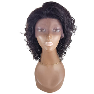 Lord & Cliff BLK 100% Virgin Remy Human Hair Lace Front Wig - BOHEMIAN 12""