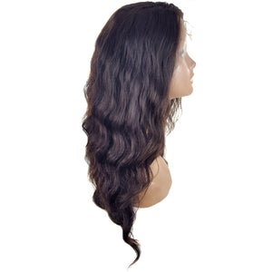 Lord & Cliff GLD 100% Virgin Remy Human Hair 360 Full Hand - tied Lace Wig - OCEAN WAVE