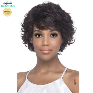 Vivica A Fox Pure Stretch Cap 100% Natural Brazilian Remi Full Wig - LISHA