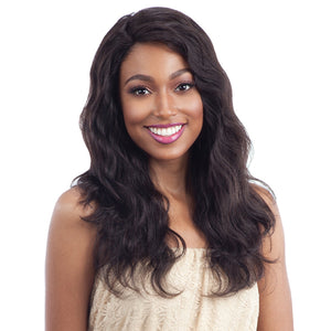 Naked 100% Unprocessed Remy Hair Invisible L-Part Lace Front Wig - NATURAL WAVY