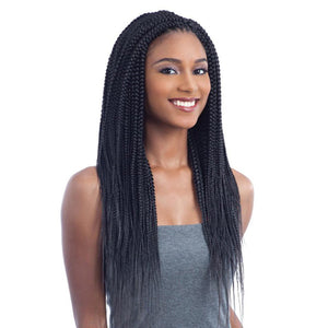 Freetress Synthetic Pre - Looped Crochet Braiding Hair - 2X NIGERIAN BRAID 20""