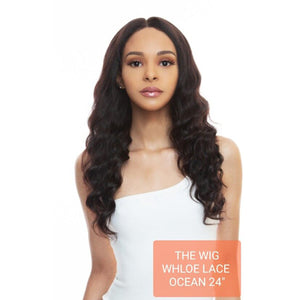 The Wig Black Pink 100% Brazilian Remy Whole Lace wig - HBL WL OCEAN 24""