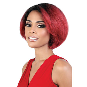 Motown Tress Silver Gray Hair Collection Synthetic Full Wig - S JADA