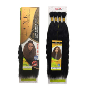 Janet Collection 100% Human Hair Braid - SUPER FRENCH BULK