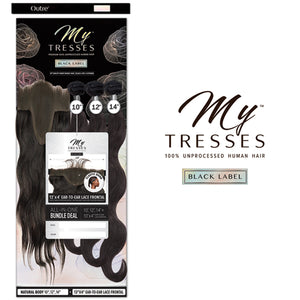 My Tresses Black Label 100% Unprocessed Hair Bundle 3PCS + 13X4 Closure - NATURAL BODY