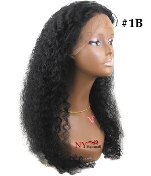 WannaBe 100% Indian Remy Human Hair Full Lace Wig FH-Afro Natural 25