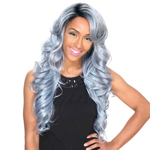 Zury Hollywood Sis Synthetic Hair Invisible Top C Part Lace Wig - IV LACE H ARI 24inch