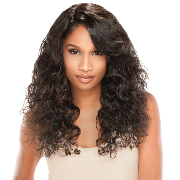 Sensationnel Brazilian Remi Bare & Natural L Part Lace Front Wig - NATURAL CURLY
