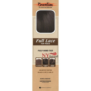 Sensationnel Brazilian Human Hair Bare&Natural - SILK FULL LACE TOP PIECE STRAIGHT 12