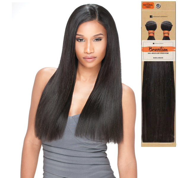 Sensationnel Virgin Remi Bundle Hair Bare & Natural - Brazilian Natural Yaki