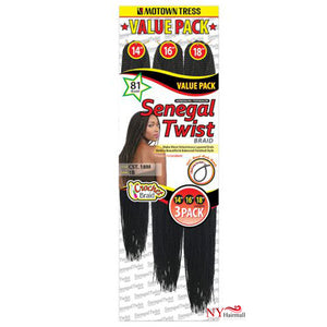 Motown Tress Crochet Braiding Hair - 3X SENEGAL TWIST BRAID (CST.18M)