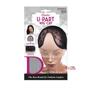 Donna Center U-PART Wig Cap - #22526 (Black)
