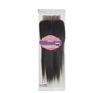 Esther Hair 100% Unprocessed Human Hair 360º Lace Band Frontal - STRAIGHT 14""