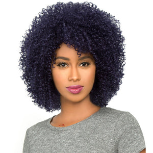 The Wig Brazilian Human Hair Blend Full Wig - HH AFRO JERRY