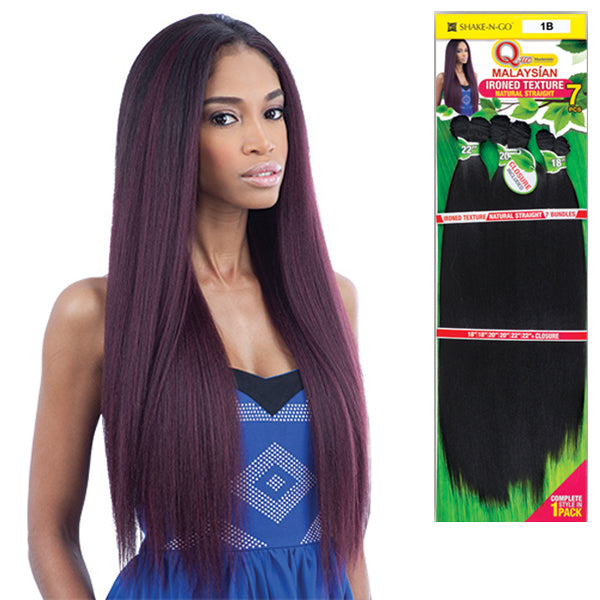 Milkyway Que Malaysian Human Blend Weave Ironed Texture Natural