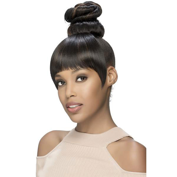 Vivica Fox Synthetic Two In One Bang & Bun - BPB-Kelsy