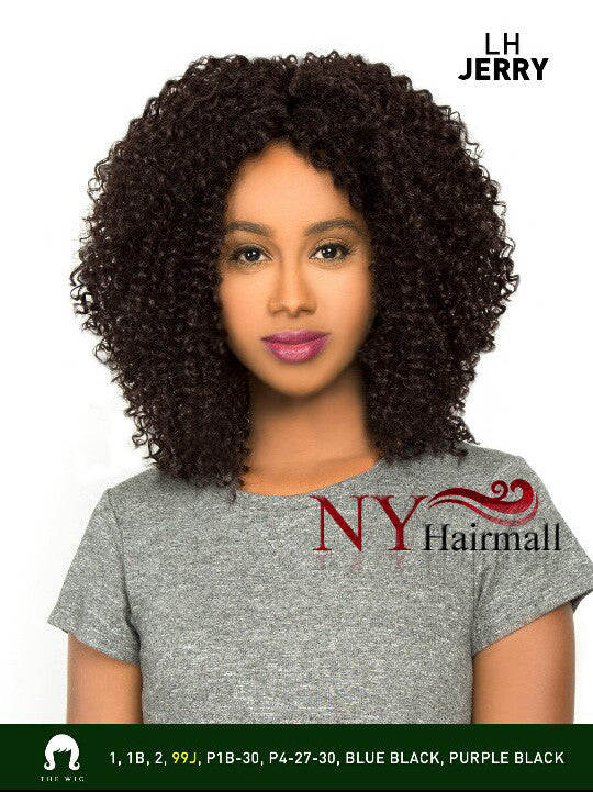 The Wig Brazilian Human Hair Blend Invisible Deep Part Lace Front Wig - LH JERRY