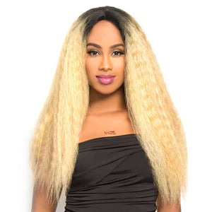 THE WIG HUMAN HAIR BLEND LACE FRONT WIG - LH NATURAL