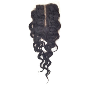 Lord & Cliff Unprocessed Virgin Hair Bleached Knots Deep Invisible Part Closure - TP CURL 12""