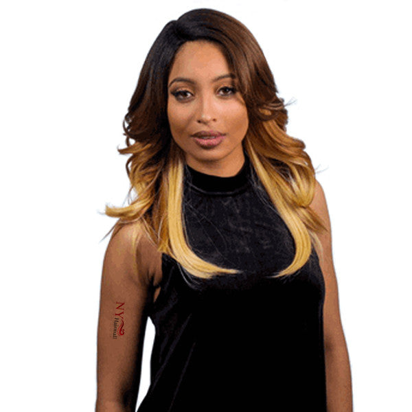 JUNEE FASHION PREMIUM HUMAN BLEND HAIR DEEP PART WIG - LUX 4