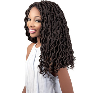 Motown Tress Angels Braid Collection Pre-looped Braid - 3X Curly Faux Locs 18""