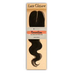 Sensationnel Unprocessed Brazilian Human Hair Bare & Natural L-Shape Part NATURAL BODY LACE CLOSURE 12""
