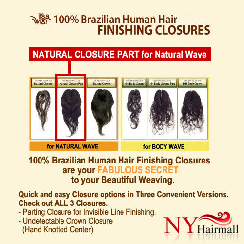 It's a Wig 100% Brazilian Human Hair Natural Closure Part