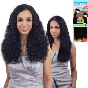 Naked Nature 100% Unprocessed Virgin Remi Brazilian Hair Wet & Wavy - Natural Wavy 7PCS
