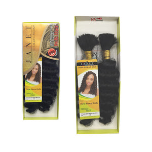 Janet Collection 100% Human Hair Braid - NEW DEEP BULK
