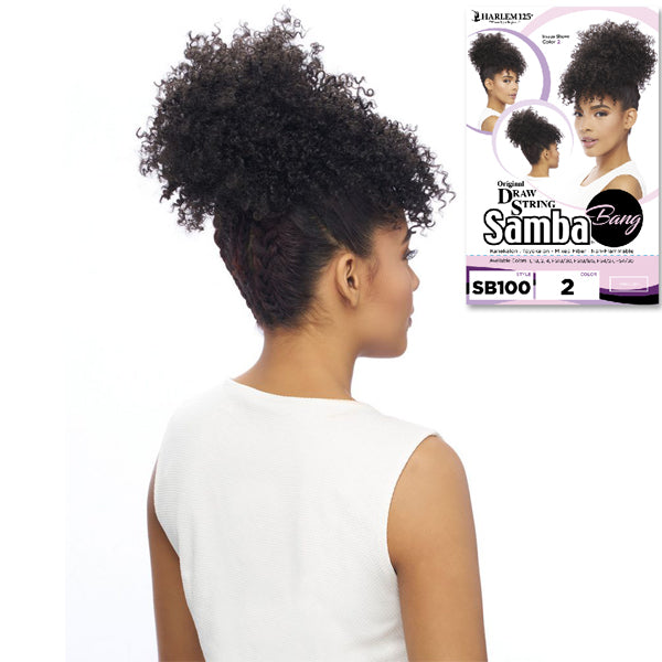 Harlem 125 Samba Bang Synthetic Drawstring Ponytail - SB100
