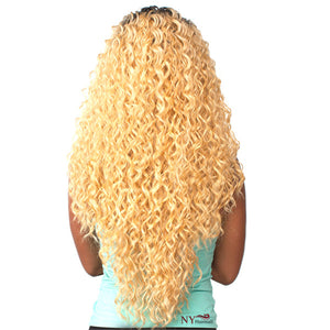 THE WIG BRAZILIAN HUMAN HAIR BLEND INVISIBLE DEEP PART LACE FRONT WIG LH-PERUVIAN