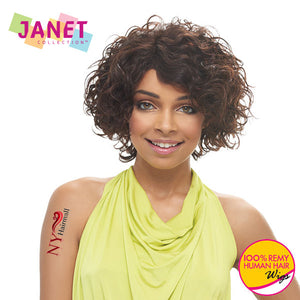 Janet Collection 100% Remy Human Hair Wig - Rose