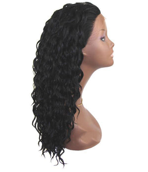 Beautician Friends Halo Coarse Hair Fiber Lace Front Wig - Sandra