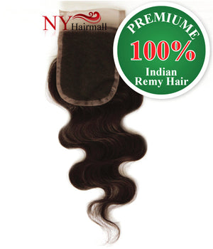 WannaBe 100% Premium Remy Hair LC - Silk Body Closure