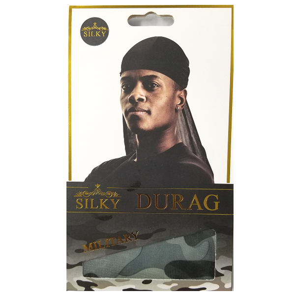 Military Silky Durag - Grey/Gray