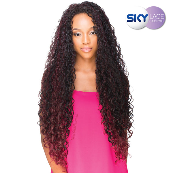 Sky Wig Synthetic Lace Front Wig - BLUESKY AUTUMN