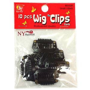 Beauty Town 10 Piece Black Wig Clips (Small)