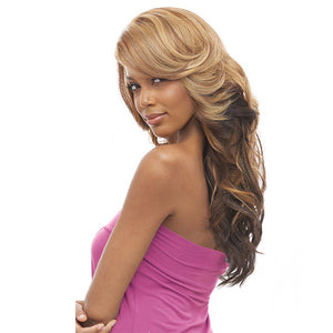 Vanessa Honey-4 Brazilian Human Blend Hand-Tied Swiss silk Lace Wig - T4HB BEXY