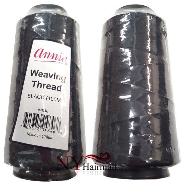 ANNIE WEAVING THREAD BLACK 1200 M BIG WEAVING THREAD
