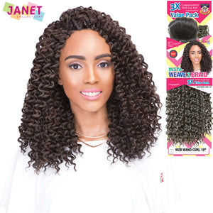 Janet Collection Twin Loop INSTA-WEAVE2BRAID - W2B WAND CURL 18""