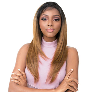 It's a Wig Human Hair Premium Mix Vixen Y Lace Front Wig - VIXEN Y YAKI STRAIGHT