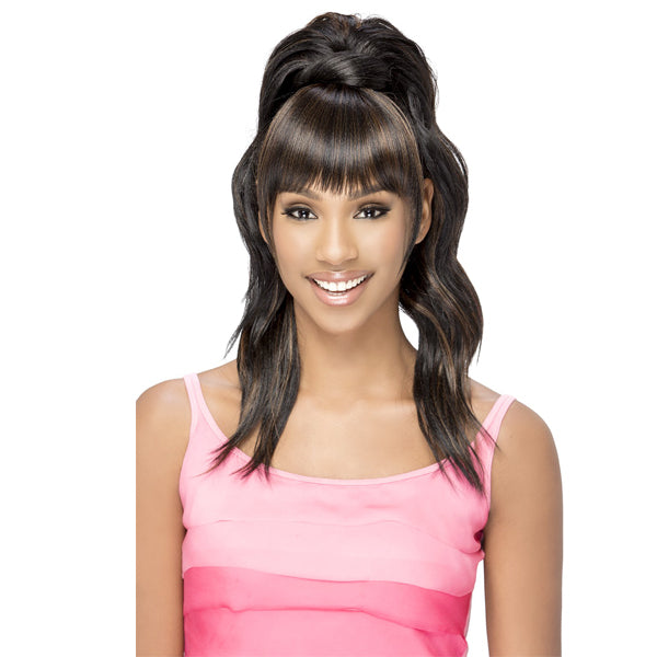 Vivica A Fox Synthetic Drawstring Two In One Bang & Pony - BP - YUNA