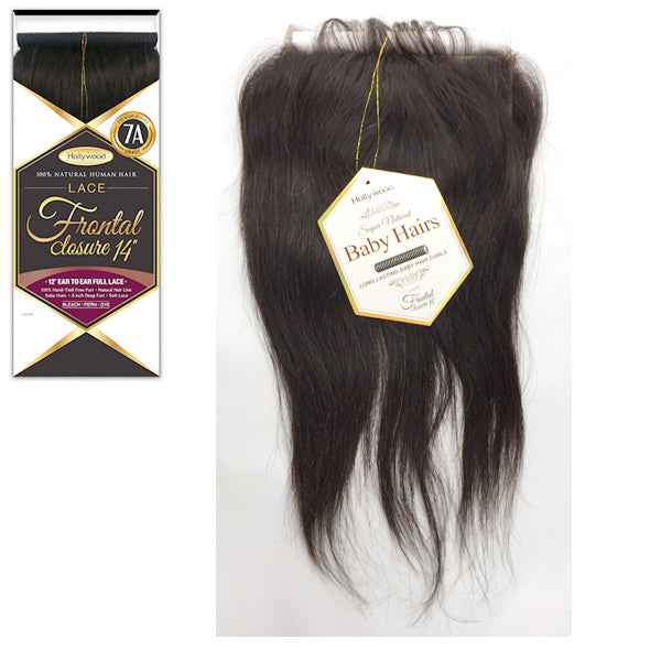Zury Hollywood 100% Remy Human Hair - LACE FRONTAL CLOSURE 14""