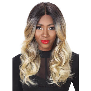 Zury Hollywood Slay Collection Synthetic Lace Front Wig - SLAY LACE H OLIVE