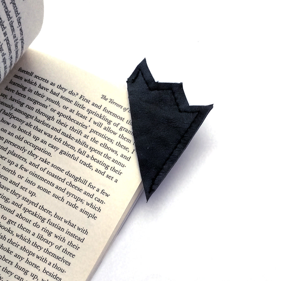 Black leather bookmark