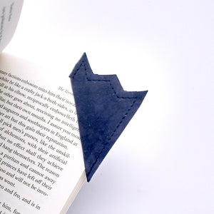Blue leather bookmark