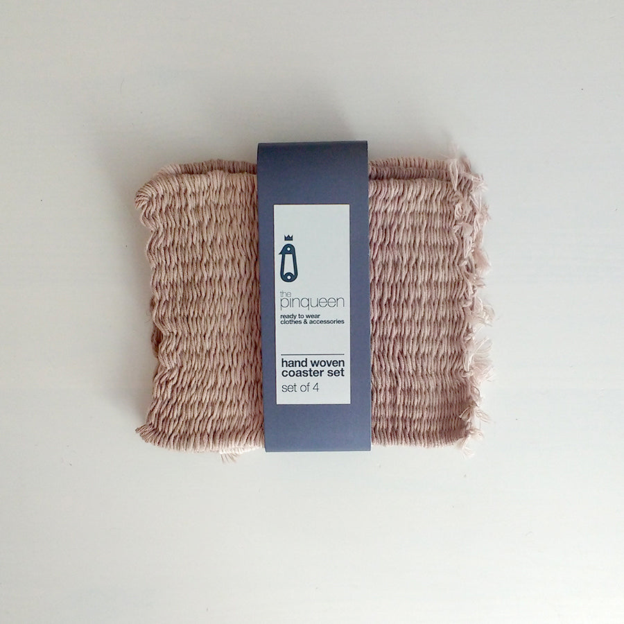 Greek coasters woven coasters handmade in Greece Greek homeware