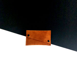 Brown suede minimal leather case
